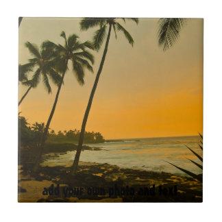 Carreau Plage tropicale de palmier
