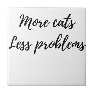 Carreau Plus de chats, moins de problèmes