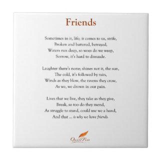 Carreau Poème d'amis