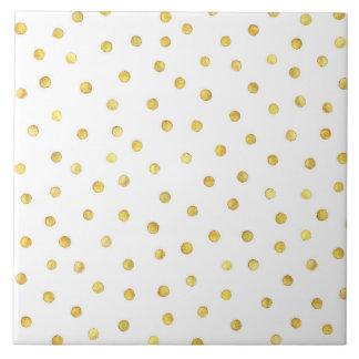 Carreau Points élégants de confettis de feuille d'or