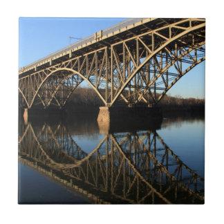 Carreau Pont au-dessus de rivière de Schuylkill