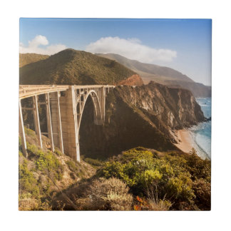 Carreau Pont de Bixby, grand Sur, la Californie,