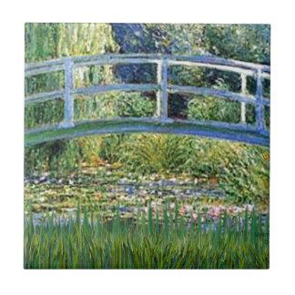 Carreau Pont d'étang de lis - insérez votre animal