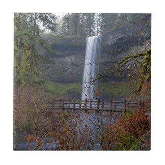 Carreau Pont en bois sur le sentier de randonnée aux