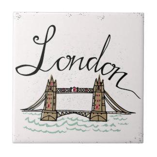 Carreau Pont en lettres de Londres de main