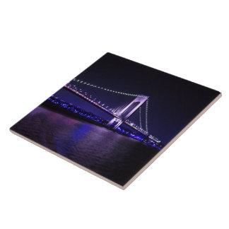Carreau Pont vif de violettes