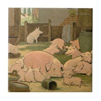 Carreau Porcs et porcelets à la ferme