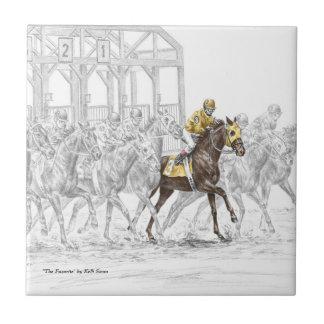 Carreau Porte démarrante de course de cheval