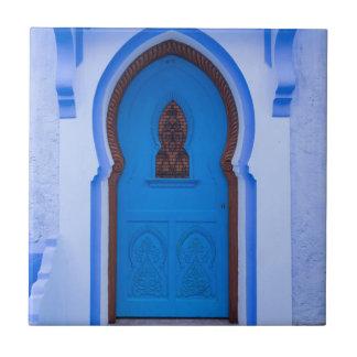 Carreau Porte marocaine bleue