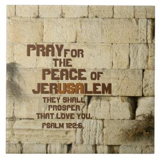 Carreau Priez pour la paix de Jérusalem, 122:6 de psaume