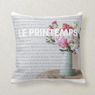 Carreau - printemps - décor français coussin décoratif