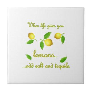 Carreau Quand la vie vous donne des citrons