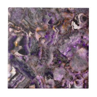 Carreau quartz pourpre abstrait