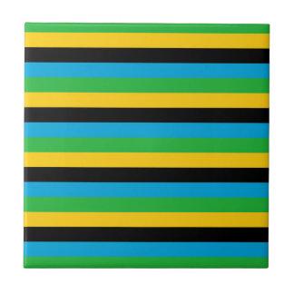 Carreau Rayures de drapeau de la Tanzanie
