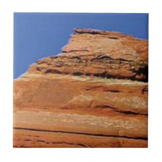 Carreau rayures rouges de roche