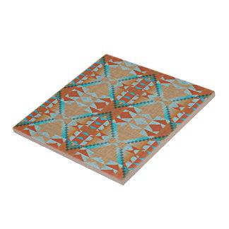 Carreau Regard ethnique éclectique orange de bleu de