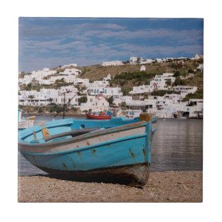 Carreau Région de port et de port avec les bateaux de