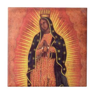 Carreau Religion vintage, Vierge Marie, Madame de