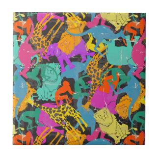 Carreau Rétro motif animal de silhouettes