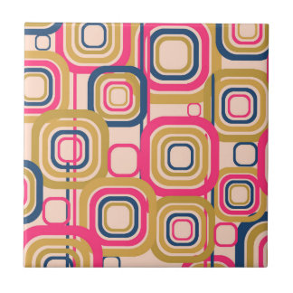 Carreau Rétro motif génial coloré