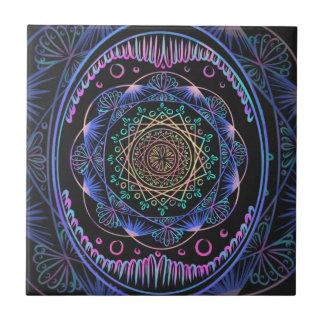 Carreau Réveil du motif de zen, reiki, guérissant, chakra