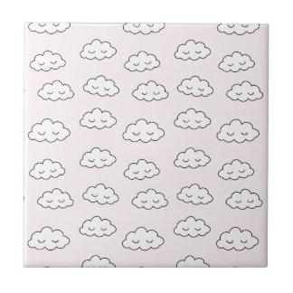 Carreau Rêver des nuages dans le rose