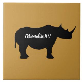 Carreau Rhinocéros de silhouette