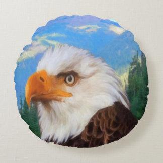 Carreau rond chauve d'Eagle Coussins Ronds