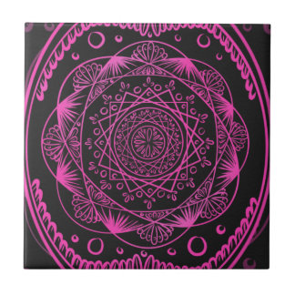Carreau Roses indien, réveillant le motif de zen,