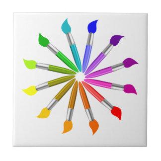 Carreau Roue de couleur de pinceau, théorie de couleur de