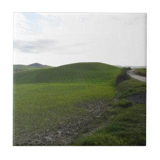 Carreau Route de campagne au-dessus de rouler les collines