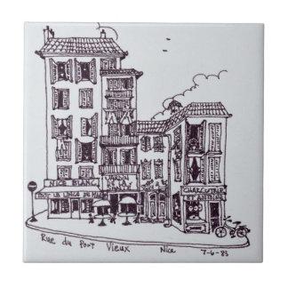 Carreau Rue du Vieux Port dans vieux Nice | Nice, France