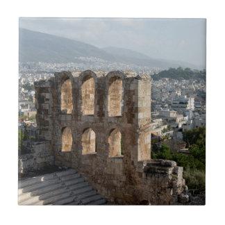 Carreau Ruines antiques d'Acropole donnant sur Athènes