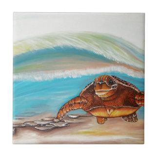 Carreau Rupture de la tortue de mer de la crête de l'eau