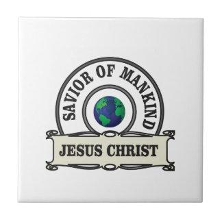 Carreau sauveur du Christ de toute l'humanité