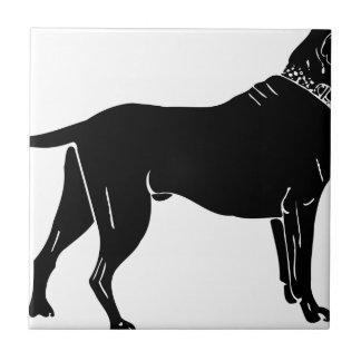 Carreau Silhouette de chien