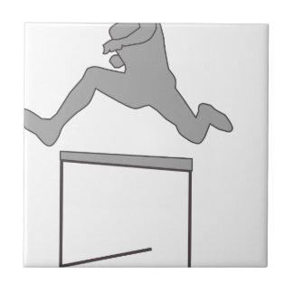 Carreau Silhouette de course d'obstacles