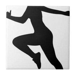 Carreau Silhouette de femme de forme physique