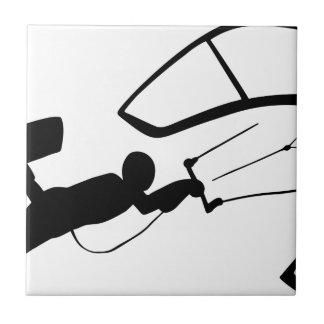 Carreau Silhouette de surfer de vent