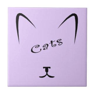 Carreau silhouette de visage de chat