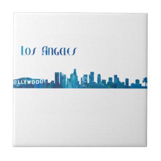 Carreau Silhouette d'horizon de Los Angeles