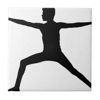 Carreau Silhouette masculine de pose de yoga