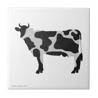 Carreau Silhouette noire et blanche de vache