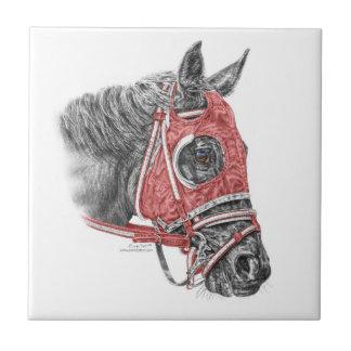 Carreau Soies de portrait de cheval de course