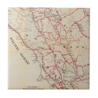 Carreau Sonoma, Marin, lac, et comtés de Napa