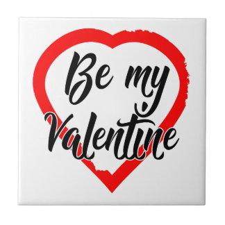 Carreau Soyez mon coeur de Valentine