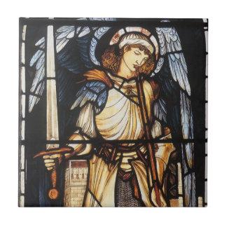 Carreau St Michael par Burne Jones, Arkhangel vintage