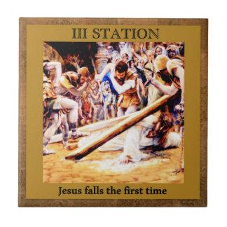 Carreau Stations de la croix #3 de 15 automnes ęr X de