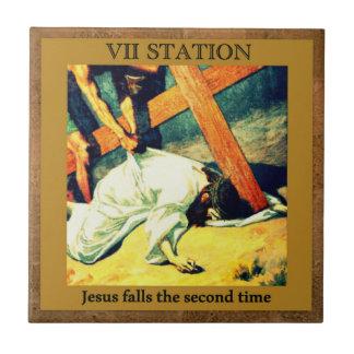 Carreau Stations de la croix #7 de 15 chutes 2ème X de