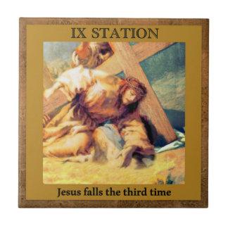 Carreau Stations de la croix #9 de 15